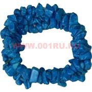 Браслет из каменной крошки «бирюза синяя»