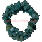 Браслет из каменной крошки «аквамарин»