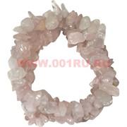 Браслет из каменной крошки «розовый кварц»