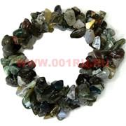 Браслет из каменной крошки «зеленая яшма»