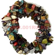 Браслет из каменной крошки «самоцветы»
