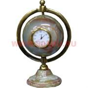 """Часы из оникса """"Глобус"""" 25см (3 дюйма)"""