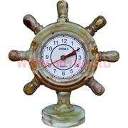 """Часы из оникса """"Штурвал"""" 27см"""