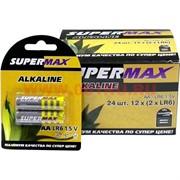 Батарейки алкалиновые SuperMax AA, цена за 24 штуки