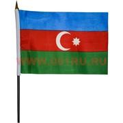 Флаг Азейбарджана 14х21 см, 12 шт/уп