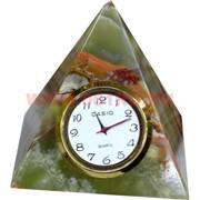 """Часы из оникса """"Пирамида"""" 10см (3 дюйма)"""