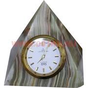 """Часы из оникса """"Пирамида"""" (4 дюйма)"""