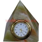 """Часы из оникса """"Пирамида"""" 12 см (5 дюймов)"""
