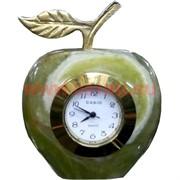 """Часы из оникса """"Яблоко"""" 9см (2,5 дюйма)"""