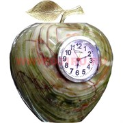 """Часы из оникса """"Яблоко"""" 19см (6 дюймов)"""