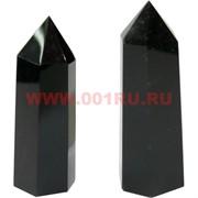 Кристалл 7,5 см из мориона 6-гранный (черный хрусталь)