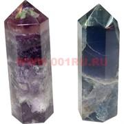 Кристалл 7 см из флюорита 6-гранный (2 цвета)