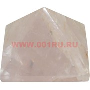 Пирамида из розового кварца малая 3 см