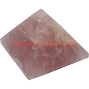 Пирамида из розового кварца средняя 4 см