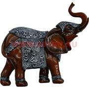 Слон с попоной 22 см, полистоун