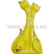 Две кошечки желтые 21 см, фарфор