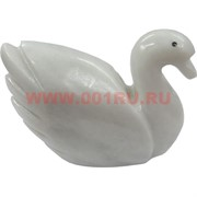 Лебедь из белого оникса 11 см (4 дюйма)