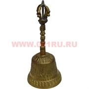 Колокольчик 15,5 см из бронзы