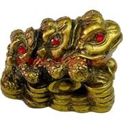 Нэцке, три жабки малые, под бронзу