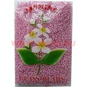 Бисер №6 (3,6 мм) розовый №185P прозрачный 450 грамм