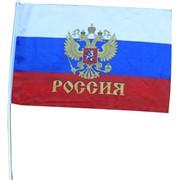 Флаг России 3 размер 30 на 45 см (12 шт\бл)