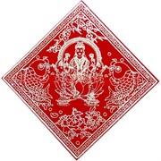 Денежная салфетка красная 17х17 см «Лакшми» цена за пару