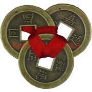 Три монеты для кошелька бронзовые 4,5см