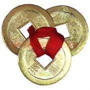 Три монеты для кошелька золотые 4,5см