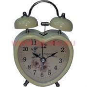 Часы-будильник «сердце» кварцевые