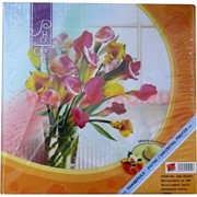 """Фотольбом на 200 фото 10х15 см с меню, """"цветы"""" ассортимент, 24 шт\кор"""