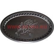 Поднос металлический 18х29 см овальный с узорами