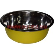 Миска металлическая 9х25 см (цвета в ассортименте)