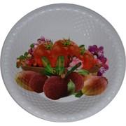 Поднос (блюдо) пластмассовый круглый 24 см