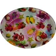 Поднос (блюдо) пластмассовый овальный 28х36 см