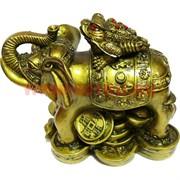 Нецке Жаба на слоне 8см, иммитация бронзы