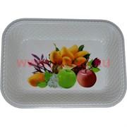 Поднос (блюдо) пластмассовый 24х32 см прямоугольный
