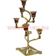 Подсвечник на 6 свечей 29 см из латуни (Индия)