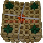 Подставки под горячее бамбук плетеные в квадратик