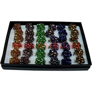 Кольцо из циркония, 6 цветов, цена за упаковку из 36 шт