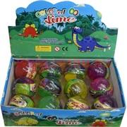 Лизун «шарик» Colored Slime с игрушкой цена за 12 шт