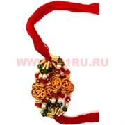 Браслет «красная нитка» и символ Ом маленький цена за 12 шт