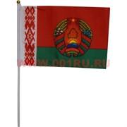 Флаг РБ Беларусь с гербом 16х24 см (12 шт/бл)