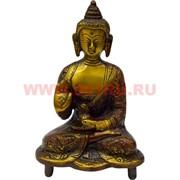 Будда 14 см из бронзы (цветной)