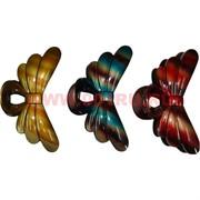 """Заколка для волос """"краб"""" бабочка (V-107) цена за 12 шт"""