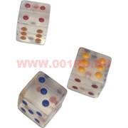 Кости игральные прозрачные 17 мм 100 шт (цена за упаковку) с острыми гранями
