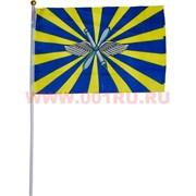 Флаг ВВС России 16х24 см, 12 шт/бл