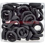 Резинка для волос (KG-120G) малая черная 1200 шт/уп