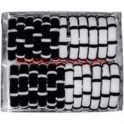 Резинка для волос (ALI-129) черно-белая 24 шт, цена за 10 упаковок