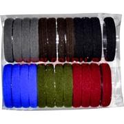 Резинка для волос (AL-122) цветная 24 шт, цена за 10 упаковок