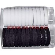 Резинка для волос (AL-122) 24 шт, цена за 10 уп (черная и белая)